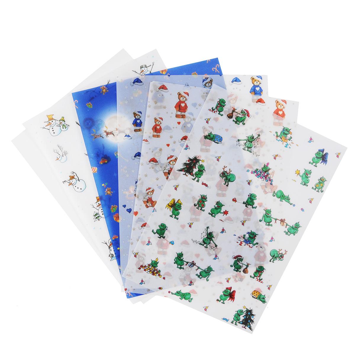 Транспарентная бумага Folia Рождество, 23 x 33 см, 5 листов7708120Транспарентная бумага Folia Рождество - полупрозрачная бумага с различными рождественскими изображениями. Используется для изготовления открыток, для скрапбукинга и других декоративных или дизайнерских работ. Бумага прекрасно держит форму, не пачкает руки, отлично крепится. Конструирование из транспарентной бумаги - необходимый для развития детей процесс. Во время занятия аппликацией ребенок сумеет разработать четкость движений, ловкость пальцев, аккуратность и внимательность. Кроме того, транспарентная бумага позволит разнообразить идеи ребенка при создании творческих работ.