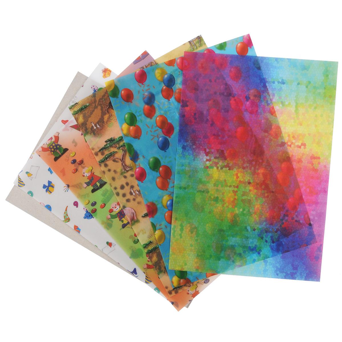 Транспарентная бумага Folia Дети, 23 x 33 см, 5 листов7708078Транспарентная бумага Folia Дети - полупрозрачная бумага с различными детскими изображениями. Используется для изготовления открыток, для скрапбукинга и других декоративных или дизайнерских работ. Бумага прекрасно держит форму, не пачкает руки, отлично крепится. Конструирование из транспарентной бумаги - необходимый для развития детей процесс. Во время занятия аппликацией ребенок сумеет разработать четкость движений, ловкость пальцев, аккуратность и внимательность. Кроме того, транспарентная бумага позволит разнообразить идеи ребенка при создании творческих работ.