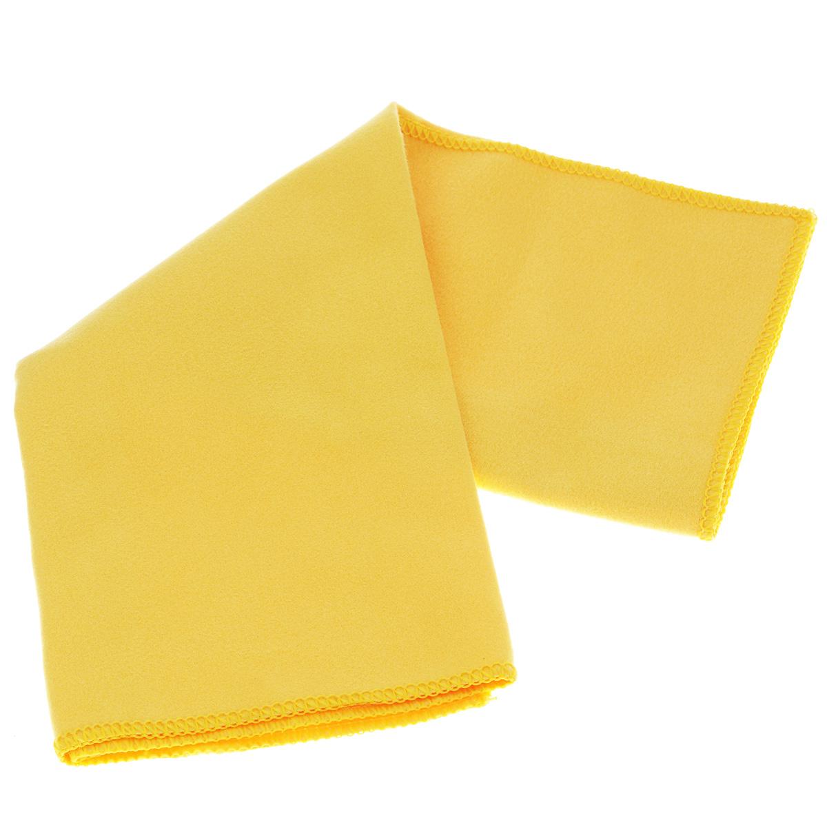 Cалфетка Sapfire Suede, цвет: желтый, 35 х 40 см3013-SFMБлагодаря своей нежной структуре, салфетка Sapfire Suede из искусственной замши идеально подходит для протирки стекол, зеркал и других деликатных поверхностей в машине и дома. Состав: 80% полиэстер, 20% полиамид.