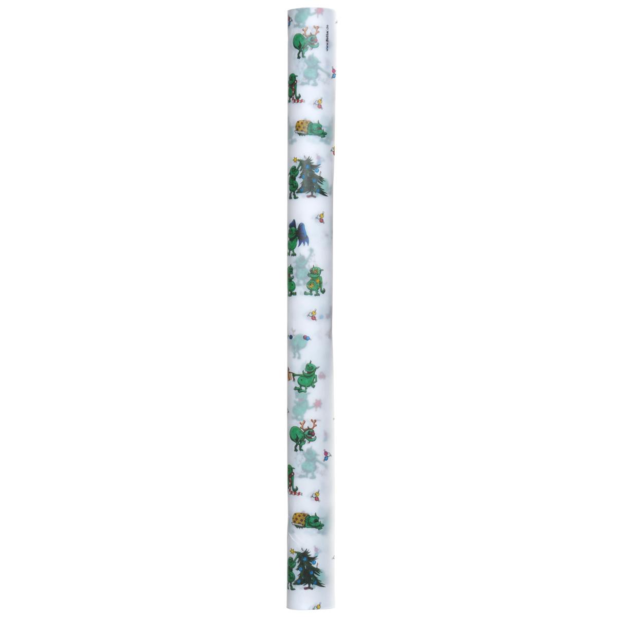 Транспарентная бумага Folia Рождественские тролли, цвет: белый, зеленый, 50,5 x 70 см