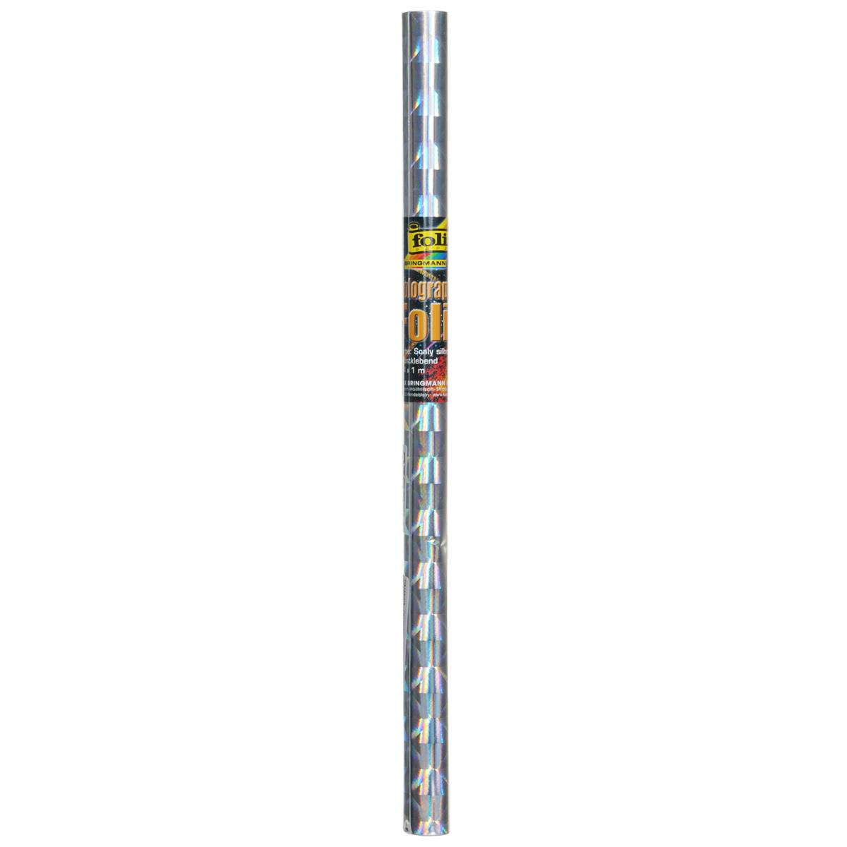 Голографическая бумага Folia Чешуя, самоклеящаяся, цвет: серебристый, 40 x 100 см