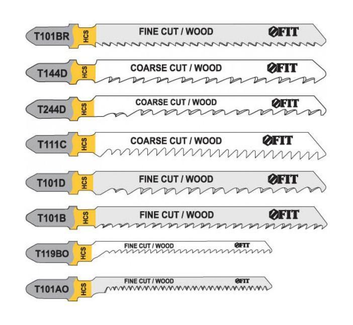 Набор полотен для электролобзика Fit, 10 шт41013Набор полотен