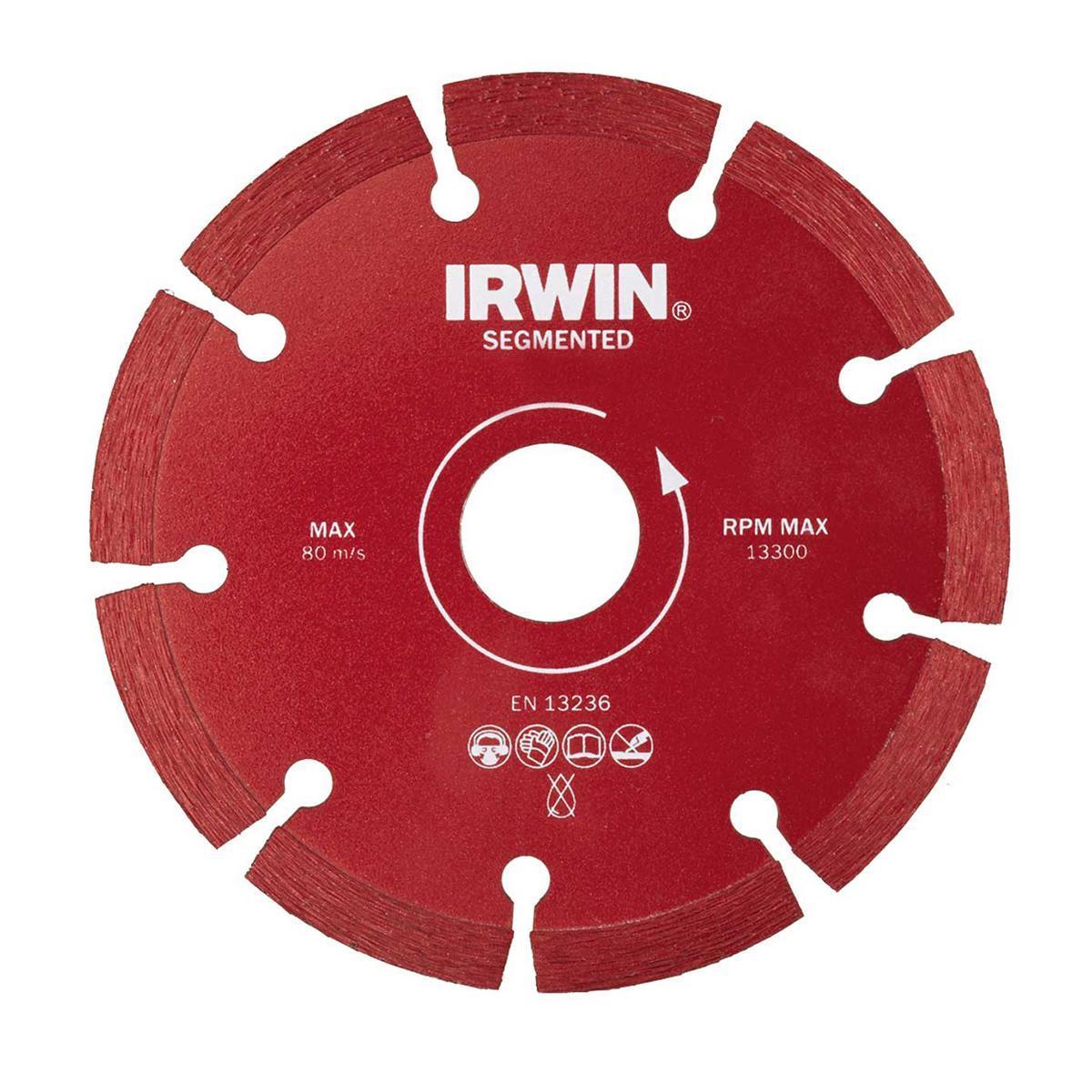 Диск алмазный сегментный Irwin Segmented, сухая резка, 180 / 22,2 мм10505932