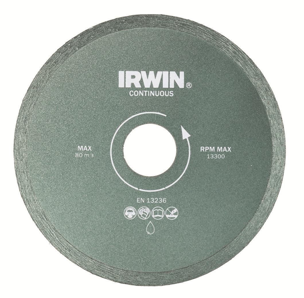 Диск алмазный сплошной Irwin Continious, мокрая резка, 150 / 25,4/22,2 мм10505936