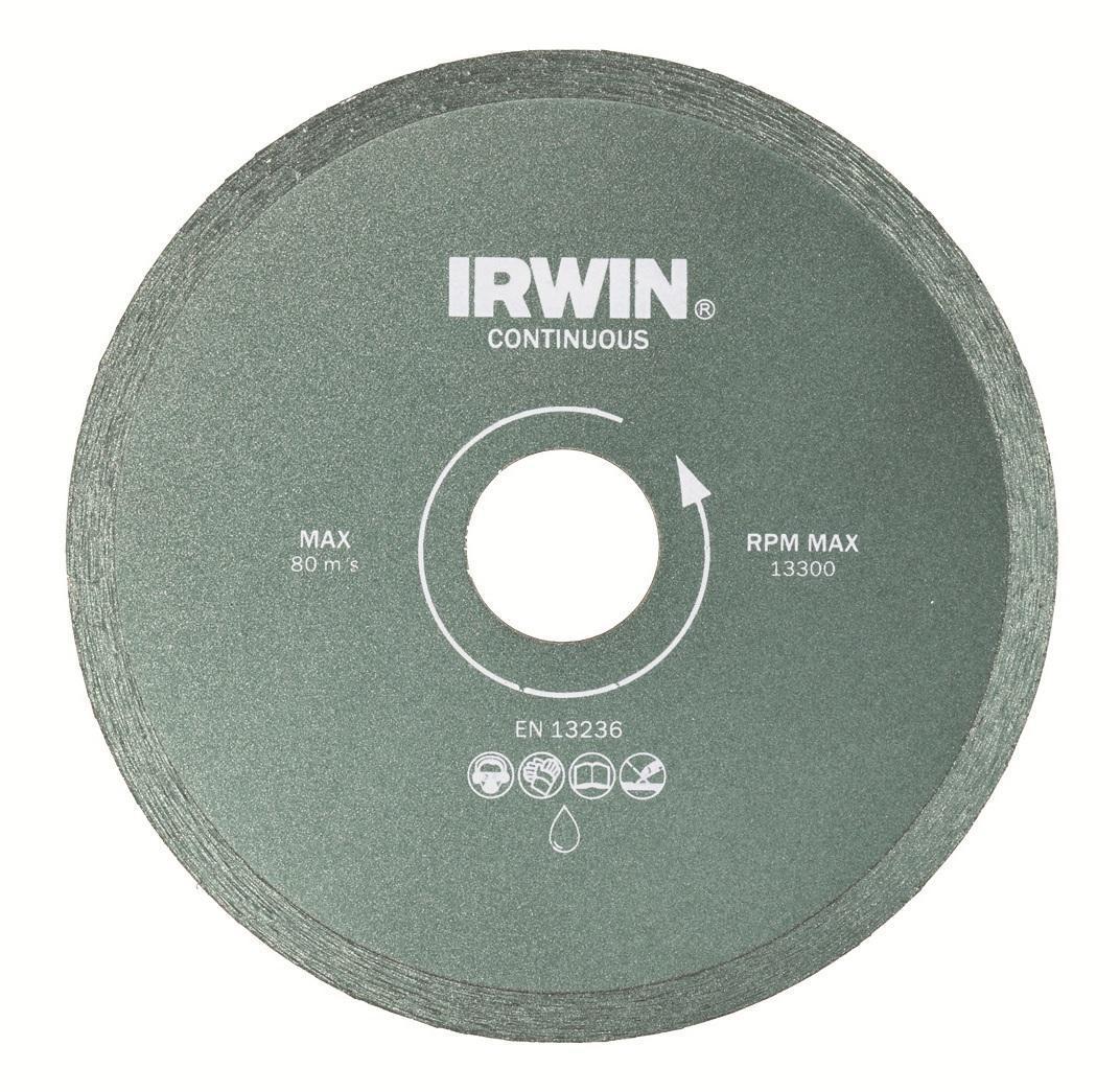 Диск алмазный сплошной Irwin Continious, мокрая резка, 230 / 25,4/22,2 мм10505939