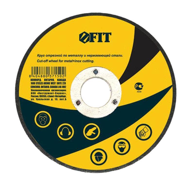 Круг отрезной по нержавеющей стали, металлу Fit, 230 х 2,0 х 22 мм37164Абразив; Применяется для разрезания материалов из различных сталей и сплавов (включая нержавеющую сталь); Посадочный диаметр 22,2 мм.