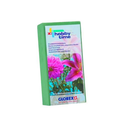Пена флористическая для живых цветов Hobby Time, цвет: зеленый, 23 х 11 х 7,5 см7704432Флористическая пена Hobby Time, изготовленная из сложных полимеров, это широчайшие возможности для вашего творчества. Выбирая этот материал в качестве основы для цветочной композиции, вы выбираете лучшее! Флористическая губка насыщается водой в считанные секунды и удерживает объем жидкости, в 40 раз превышающий собственный вес. Пена легко режется ножом, ей можно придать любую форму. Пена зеленого цвета используется для живых свежесрезанных растений, пена коричневого и серого цветов - для композиций из сухоцветов, искусственных и бумажных цветов, для конфетной флористики и бисероплетения, в качестве удобной базы для композиции.