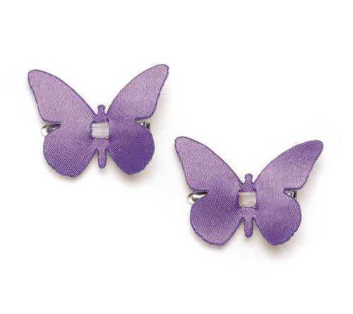 Zakazat.ru: Набор декоративных элементов Hobby Time Бабочки, цвет: лиловый, 4 х 3 см, 4 шт