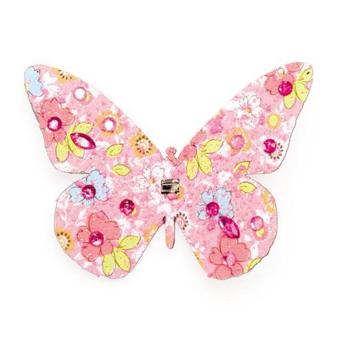 Декоративный элемент Hobby Time Бабочка, цвет: розовый, 8 х 6 см 77054987705498Декоративный элемент Hobby Time Бабочка, изготовленный из текстиля, предназначен для декорирования. Он может пригодиться в оформлении одежды, предметов интерьера, подарков, цветочных букетов, а также в скрапбукинге. Изделие выполнено в виде бабочки, декорированной цветочным принтом и стразами. С оборотной стороны бабочка оснащена металлической клипсой.