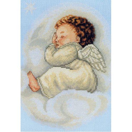 Набор для вышивания крестом RTO Спящий ангел, 20 х 26 см140587Набор для вышивания крестом RTO Спящий ангел поможет вам создать свой личный шедевр - красивую картину, вышитую нитками мулине в технике счетный крест. Работа, выполненная своими руками, станет отличным подарком для друзей и близких! Набор содержит: - голубая канва Aida № 14 (хлопок) без рисунка, - мулине DMC (хлопок) - 13 цветов, - игла, - схема для вышивания, - инструкция на русском языке.
