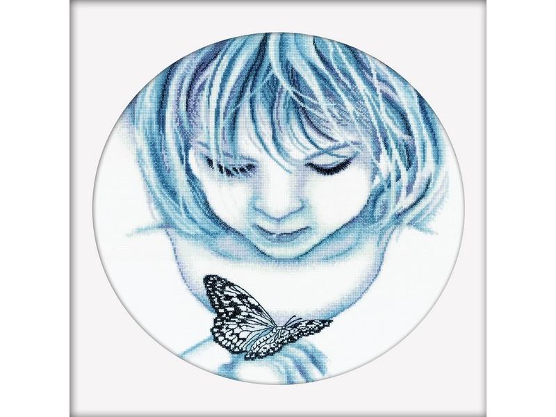 Набор для вышивания крестом RTO Девочка и бабочка, 32 см х 32 см150017Набор для вышивания RTO Девочка и бабочка поможет вам создать свой личный шедевр - красивую картину, вышитую в технике крест. Вышивание отвлечет вас от повседневных забот и превратится в увлекательное занятие! Работа, сделанная своими руками, создаст особый уют и атмосферу в доме, и долгие годы будет радовать вас и ваших близких, а подарок, выполненный собственноручно, станет самым ценным для друзей и знакомых. Художник - дизайнер: Поночевная Оксана. В набор входят: - канва Aida 14 белая (100% хлопок) - 45 см х 39 см; - хлопковые нитки мулине DMC (11 цветов); - черно-белая схема; - инструкция на русском языке; - игла.