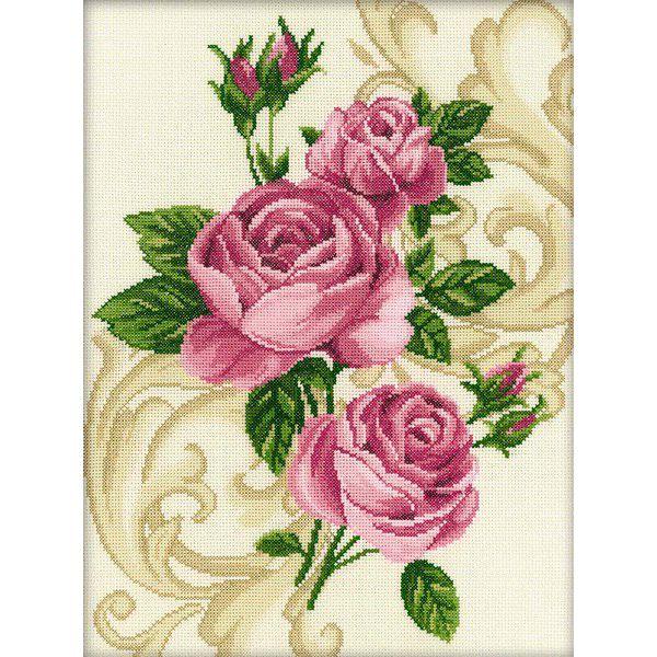 Набор для вышивания крестом RTO Розы, 27 х 36 см150108Красивый рисунок-вышивка, выполненный на канве, выглядит оригинально и всегда модно. Работа, сделанная своими руками, создаст особый уют и атмосферу в доме и долгие годы будет радовать вас и ваших близких. Набор для вышивания содержит все необходимые материалы. Вышивка выполняется швом крест в одну или две нити мулине из пучка в 6 нитей. В состав набора входит: - канва Aida 14 бежевого цвета (100% хлопок, 5,5 клеток = 1 см, рисунок не нанесен), - вышивальные нитки-мулине DMC на карте, разобранные по цветам (17 цветов, 100% хлопок), - черно-белая символьная схема, - инструкция, - игла для вышивания.