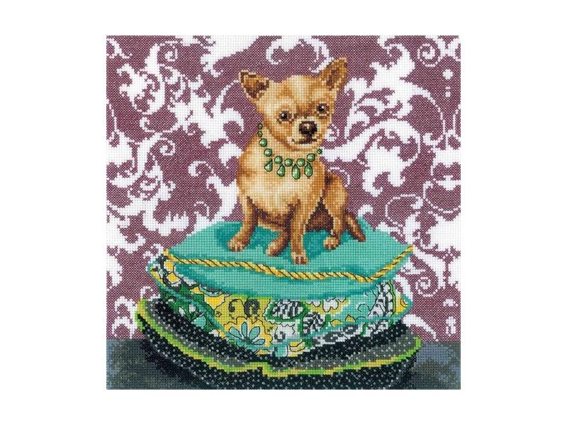 Набор для вышивания крестом РТО Интерьереые собачки - Чихуахуа рыжий, 25 х 25 см М266150116Набор для вышивания поможет вам создать свой личный шедевр - красивую картину. Вышивка выполняется в технике крест. Работа, выполненная своими руками, станет отличным подарком для друзей и близких! Набор содержит: - канва Aida 14 (белая, без рисунка), 100% хлопок, - нитки мулине DMC, разобранные на органайзере (28 цветов), 100% хлопок, - игла для вышивания, - символьная схема, - инструкция на русском языке. Размер готовой работы: 25 см х 25 см.