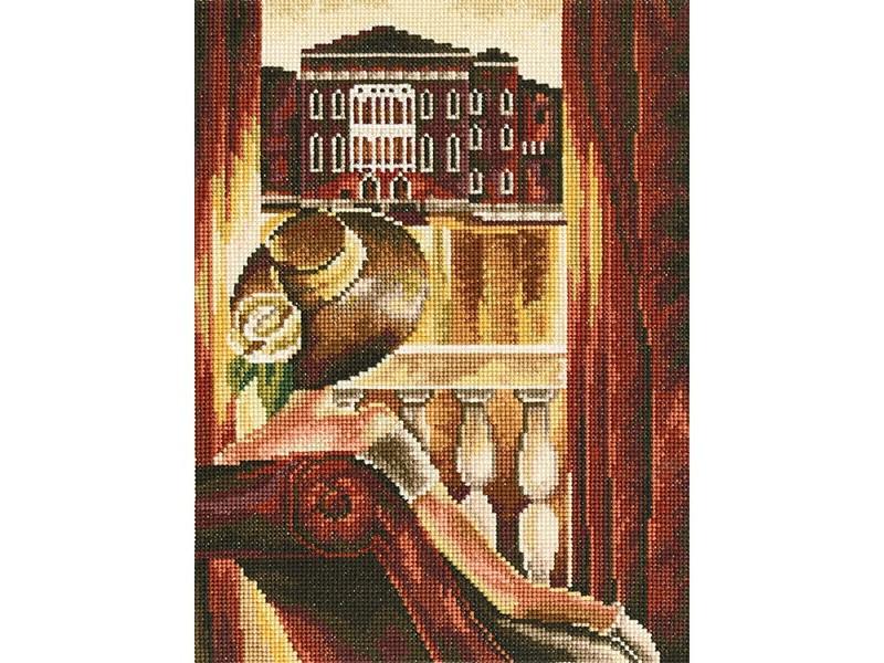 Набор для вышивания крестом RTO Комната с видом. Венеция, 17 см х 23 см544439Красивый рисунок-вышивка, выполненный на канве, выглядит оригинально и всегда модно. Работа, сделанная своими руками, создаст особый уют и атмосферу в доме и долгие годы будет радовать вас и ваших близких. Набор для вышивания содержит все необходимые материалы. Вышивка выполняется швом крест в две нити мулине из пучка в 6 нитей. Схема разработана по мотивам работы Триш Биддл. В состав набора входит: - канва Aida 16 бежевого цвета (100% хлопок, 6,4 клеток = 1 см, рисунок не нанесен), - вышивальные нитки-мулине DMC на карте, разобранные по цветам (36 цветов, 100% хлопок), - черно-белая символьная схема, - инструкция, - игла для вышивания.