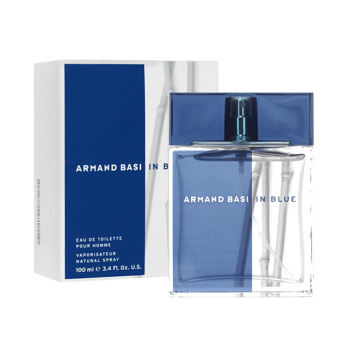 """Armand Basi Туалетная вода In Blue, мужская, 100 мл30304Аромат, созданный благодаря слиянию последних тенденций мировой моды и особого дизайнерского стиля Armand Basi. Продолжая развитие основной """"природной"""" концепции женского аромата Armand Basi In Red, аромат Armand Basi In Blue гармонично воплотил основные черты, присущие современному мужчине. Синий цвет - противоположность красного. Такой же чистоты, как сам воздух, такой же интенсивности, как сила и глубина океана. Синий как цвет моря, комбинация силы и спокойствия, страсти и нежности. Актуальность и изысканность сливаются в одно целое, отражая образ современного мужчины, энергичного, спортивного и одновременно целеустремленного, относящегося к природе как к источнику силы и творчества. Создатель аромата - Alberto Morillas. Классификация аромата : древесный. Пирамида аромата : Верхние ноты: мандарин, бергамот, грейпфрут, листья кориандра. Ноты сердца: лотос, нероли, перец, ростки черной смородины. Ноты..."""