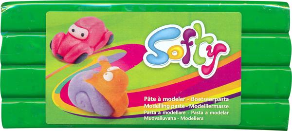 Пластилин Softy, цвет: зеленый (600), 500 г146288_600Цветная масса (пластилин) Softy на восковой основе является идеальным вариантом материала для лепки. Высокая пластичность позволяет изготавливать очень тонкие детали. Цвета хорошо смешиваются между собой. Пластилин не липнет к рукам, не окрашивает их, не сохнет на воздухе. Благодаря натуральной основе, безопасен при проглатывании. Хорошо развивает мелкую детскую моторику, а также восстанавливает подвижность пальцев и кистей рук у взрослых. Предназначен для детей старше 3 лет.