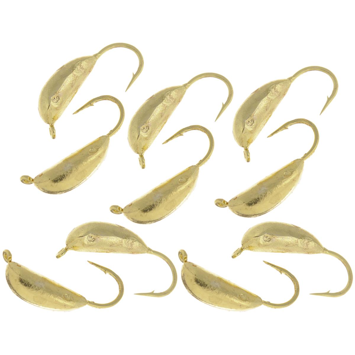 Мормышка вольфрамовая Dixxon-Russia, рижский банан, цвет: золотой, диаметр 4 мм, 0,8 г, 10 шт12900Мормышка Dixxon-Russia изготовлена из вольфрама и оснащена крючком. Главное достоинство вольфрамовой мормышки - большой вес при малом объеме. Эта особенность дает большие преимущества при ловле, так как позволяет быстро погрузить приманку на требуемую глубину и лучше чувствовать игру мормышки.