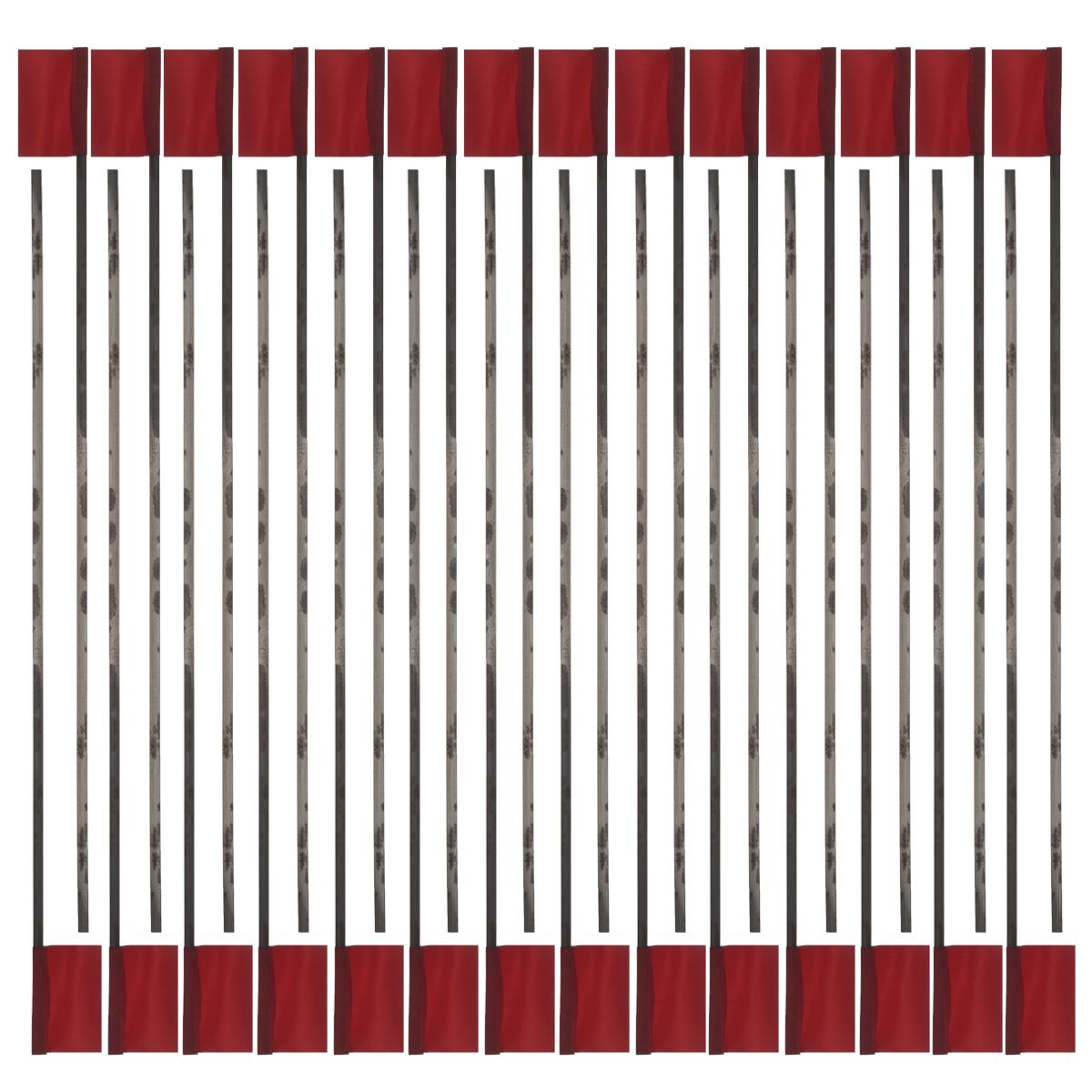 Флажок для жерлиц РОСТ, 100 шт13-16-876Флажок для жерлиц - необходимый атрибут для зимней рыбалки. Изделие изготовлено из гибкой металлической основы и собственно флажка, выполненного из плотной блестящей ткани красного цвета.