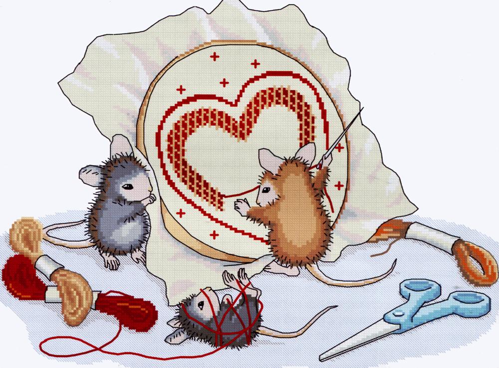 Набор для вышивания крестом Nitex Мышки рукодельницы, 30 см х 22 см. 77026587702658Набор для вышивания крестом Nitex Мышки рукодельницы поможет вам создать свой личный шедевр - красивую картину, вышитую нитками мулине в технике счетный крест. Работа, выполненная своими руками, станет отличным подарком для друзей и близких! Набор содержит: - канва №14 белого цвета без рисунка (100% хлопок), - мулине (20 цветов, 100% хлопок), - игла для вышивания, - схема для вышивания, - инструкция на русском языке.