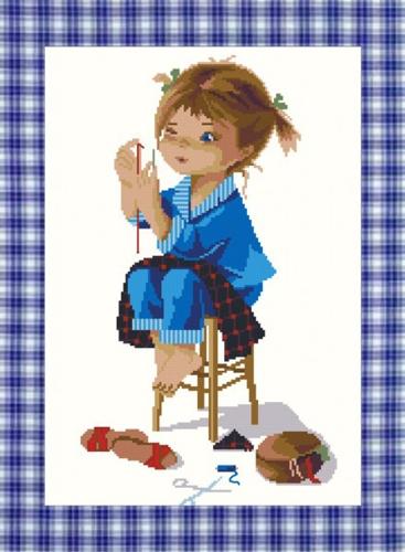 Набор для вышивания крестом Nitex Портниха, 20 см х 29 см. 77012727701272Набор для вышивания крестом Nitex Портниха поможет вам создать свой личный шедевр - красивую картину, вышитую нитками мулине в технике счетный крест. Работа, выполненная своими руками, станет отличным подарком для друзей и близких! Набор содержит: - канва №18 белого цвета без рисунка (100% хлопок), - мулине (16 цветов, 100% хлопок), - игла для вышивания, - схема для вышивания, - инструкция на русском языке. УВАЖАЕМЫЕ КЛИЕНТЫ! Обращаем ваше внимание, на тот факт, что рамка в комплект не входит, а служит для визуального восприятия товара.