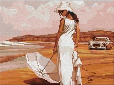 Набор для вышивания крестом Maestra Пляж, 45 х 33 см7706466Красивый рисунок-вышивка, выполненный на канве, выглядит оригинально и всегда модно. Работа, сделанная своими руками, создаст особый уют и атмосферу в доме и долгие годы будет радовать вас и ваших близких. Набор для вышивания Maestra Пляж содержит все необходимые материалы. Рисунок вышивается швом счетный крест (дополнительный шов назад иголка - этим швом исполняются отдельные детали для придания вышивке большей выразительности). Схема рассчитана на вышивку в 2 нити. В состав набора входит: - канва №14 с нанесенным цветным рисунком (100% хлопок) - 55 см х 40 см; - вышивальные нитки-мулине (22 цвета, 100% хлопок), - цветная схема; - инструкция; - игла для вышивания. Размер готовой работы: 45 см х 33 см.