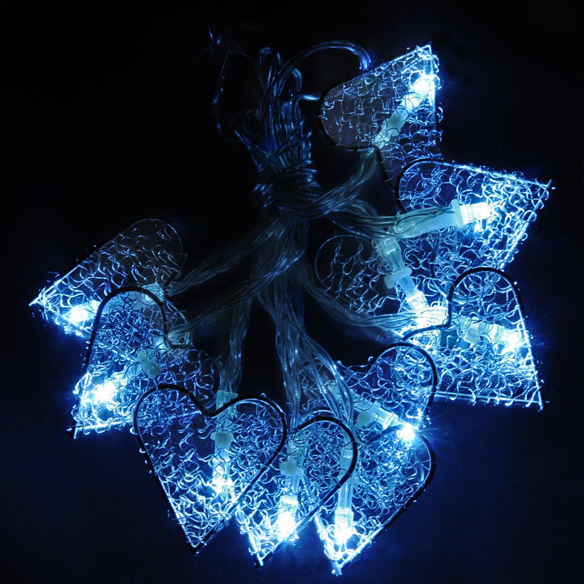 Гирлянда электрическая Lunten Ranta Ледяное сердце, 10 светодиодов, 2 м67626Гирлянда электрическая Lunten Ranta Ледяное сердце выполнена из акрила и металла. Гирлянда выполнена в оригинальном стиле, каждый светодиод выполнен в форме сердца. Такая гирлянда украсит ваш дом изнутри. Оригинальный дизайн и красочное исполнение создадут праздничное настроение. Откройте для себя удивительный мир сказок и грез. Почувствуйте волшебные минуты ожидания праздника, создайте новогоднее настроение вашим дорогим и близким. Работает от 3-х батареек тапа АА напряжением 1.5 V (в комплект не входит).