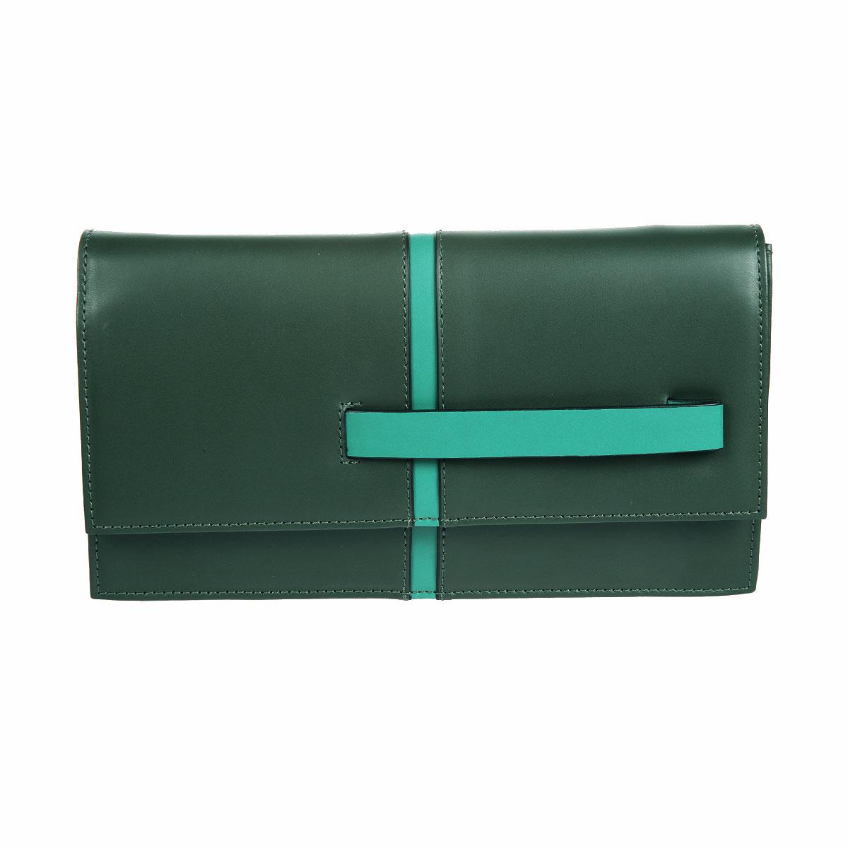 Клатч женский Gianni Conti, цвет: темно-зеленый, травяной. 843792E843792E green multiЭлегантный женский клатч Gianni Conti выполнен из высококачественной натуральной кожи. Лицевая сторона оформлена вертикальной полосой и оснащена удобной ручкой, которые исполнены в одном цвете. Клатч закрывается на клапаном на магнитную кнопку. Внутреннее отделение содержит два открытых кармана, держатель для письменных принадлежностей и накладной карман на застежке-молнии. В комплекте с клатчем входят небольшой ремешок на карабинах и тонкий плечевой рмень на кнопках. Изделие упаковано в фирменный чехол. Такой клатч отлично завершит вечерний образ и подчеркнет ваш идеальный вкус. С ним вы не останетесь незамеченной.