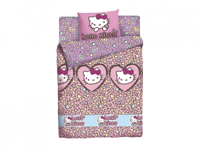 КПБ Hello Kitty Леопард 1,5сп4600001802250Лицензионное постельное белье, выполненное из натуральных природных материалов. Привнесет в спальню ребенка массу новых красок и незабываемых впечатлений.