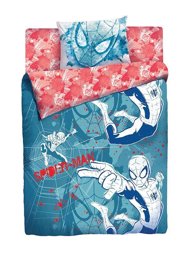 КПБ MARVEL Человек-паук 1,5СП4600001805688Лицензионное постельное белье Человек Паук обеспечит Вашему ребенку здоровый и комфортный сон, а также, привнесет в спальню яркие краски и новые эмоции.