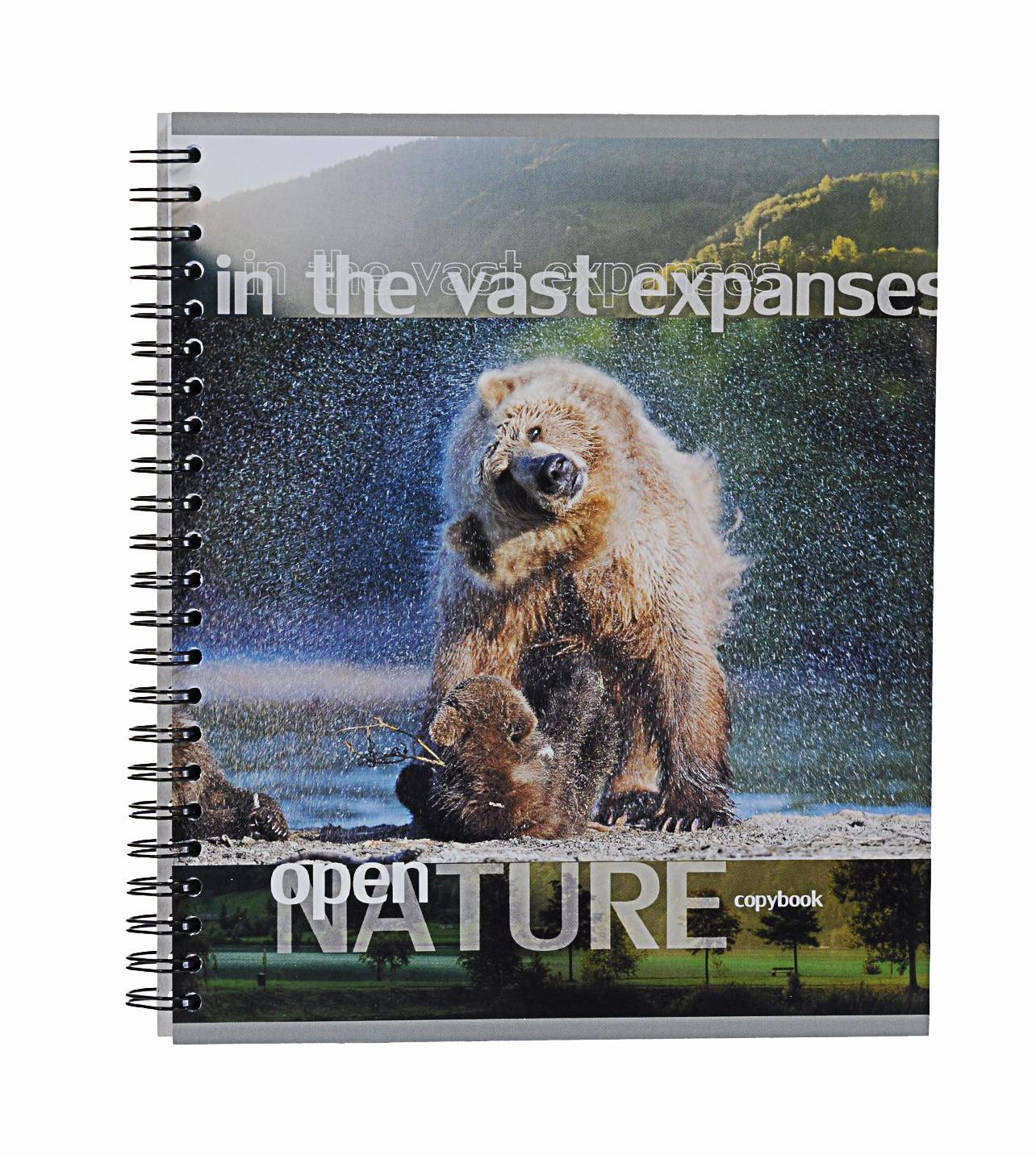 Тетрадь на спирали, 96л Open nature, медведи38010медведитетрадь на спирали,96л Open nature, медведи
