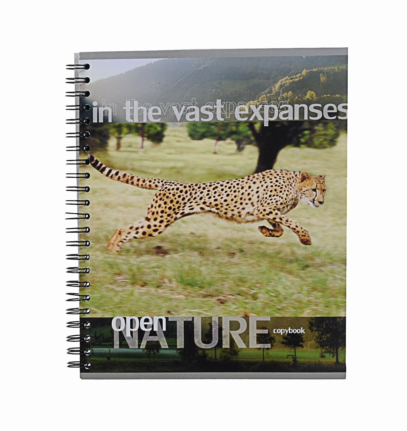 Тетрадь на спирали, 96л Open nature, леопард38010леопардтетрадь на спирали,96л Open nature, леопард
