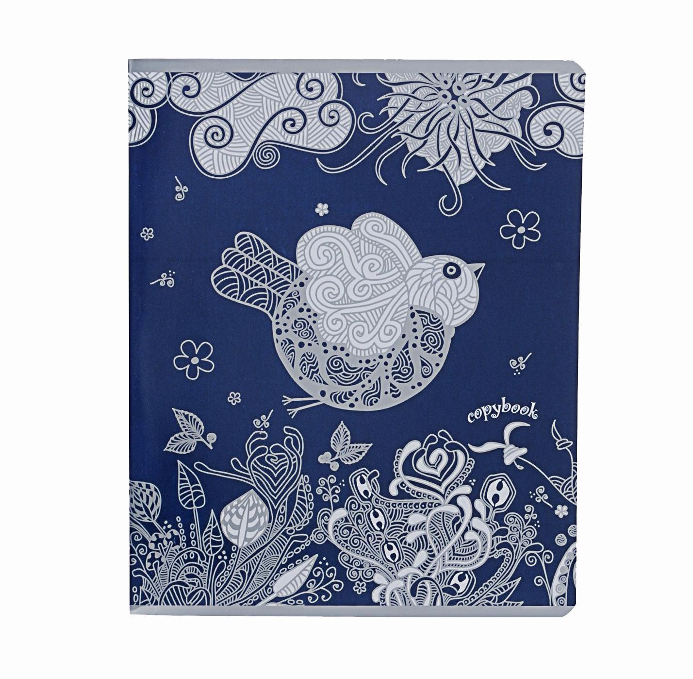Тетрадь, 96л Сказочные птицы, цвет: синий37603 синийтетрадь,96л Сказочные птицы, цвет: синий