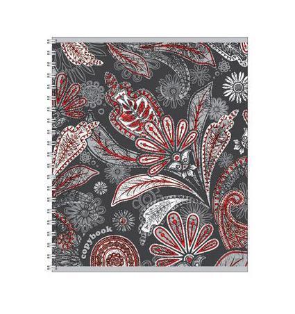 Тетрадь на спирали, 60л Парча, мет.картон, цвет: серый37633 серыйтетрадь на спирали,60л Парча, мет.картон, цвет: серый