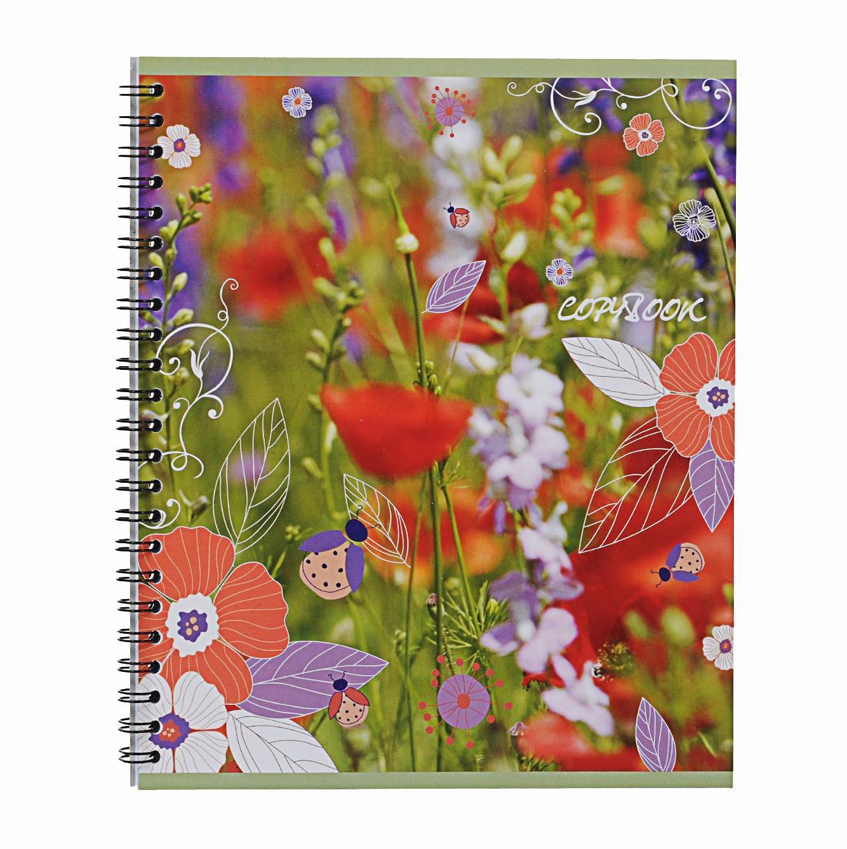 Тетрадь на спирали, 60л Полевые цветы красные33586красныететрадь на спирали,60л Полевые цветы красные