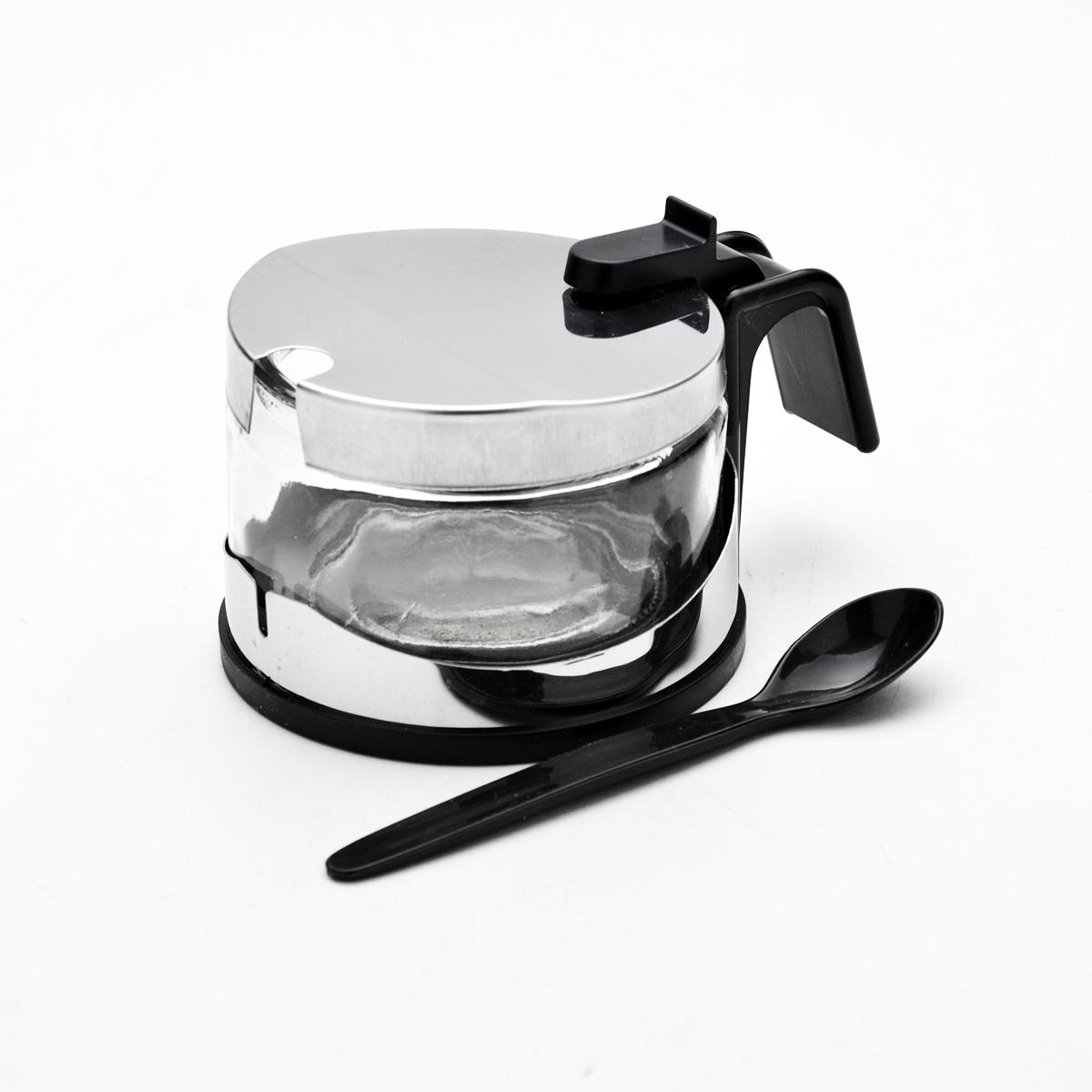 Сахарница Mayer & Boch, с ложечкой, 255 мл9197Сахарница Mayer & Boch изготовлена из высококачественной нержавеющей стали и стекла. Изделие оснащено крышкой с прорезью. В комплекте - специальная пластиковая ложечка. Сахарница имеет эффектный современный дизайн, поэтому будет выгодно смотреться на любой кухне. Стеклянная чаша легко вынимается из металлической подставки, поэтому изделие легко моется.