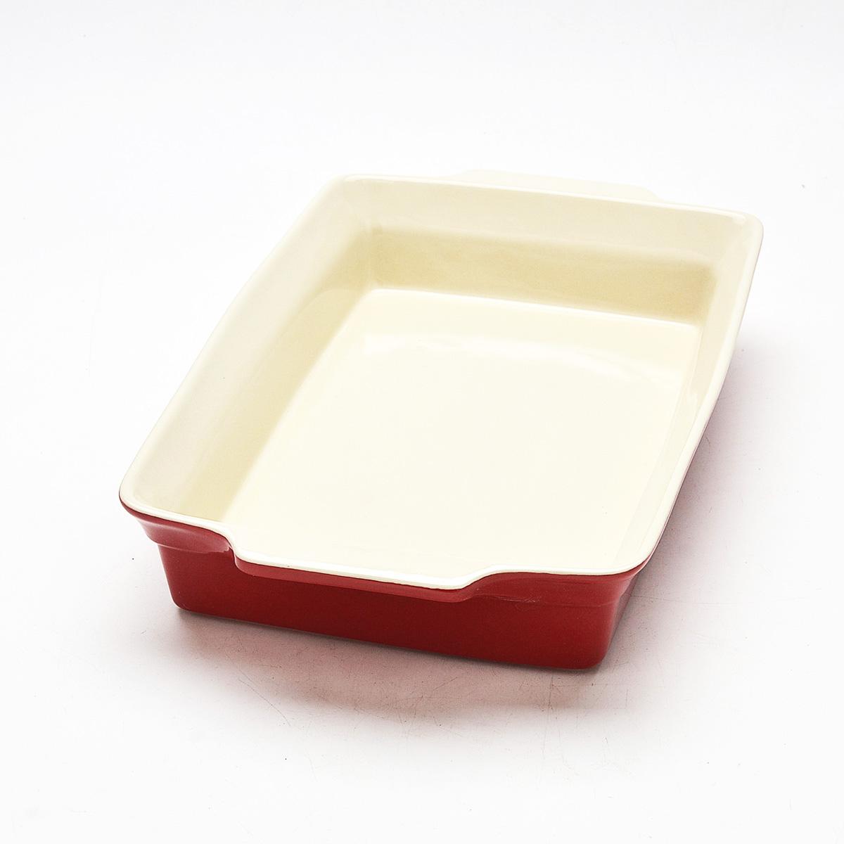 Противень Mayer & Boch, прямоугольный, 38,2 см х 23 см. 2181221812Противень Mayer & Boch изготовлен из высококачественной керамики. Керамика не содержит вредных примесей ПФОК, что способствует здоровому и экологичному приготовлению пищи. Незаменимый атрибут для приготовления запеканок, всевозможных блюд из мяса и овощей, а также выпечки из теста и изысканных кондитерских блюд. Противень оснащен удобными глиняными ручками. Подходит для чистки в посудомоечной машине. Не применять абразивные чистящие средства. Не использовать жесткие щетки.