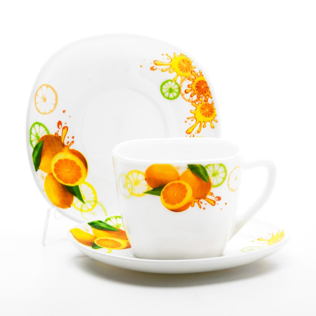 Набор чайный Mayer & Boch Лимон, 12 предметов. 2410824108Чайный набор Mayer & Boch Лимон, выполненный из высококачественного стекла, состоит из шести чашек и шести блюдец. Предметы набора оформлены изображением лимонов. Изящный дизайн и красочность оформления придутся по вкусу и ценителям классики, и тем, кто предпочитает утонченность и изысканность. Чайный набор - идеальный и необходимый подарок для вашего дома и для ваших друзей в праздники, юбилеи и торжества! Он также станет отличным корпоративным подарком и украшением любой кухни.
