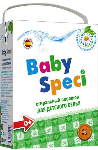 Стиральный порошок для детского белья BabySpeci, 1,8 кг390445Стиральный порошок для детского белья BabySpeci специально разработан для стирки детского белья. Новая формула дополнительного смягчения оберегает чувствительную кожу ребенка, не вызывает аллергии и бережно относится к детским вещам. Подходит для натуральных и синтетических тканей. Легко смывается, не оставляя следов и запаха. Подходит для машинной и ручной стирки при температуре от 30° до 90°С. - Подходит для использования с первых дней жизни - Не содержит фосфатов, фосфонатов и энзимов - Дерматологически протестирован - Легко выполаскивается - Хорошо удаляет все естественные загрязнения - Подходит для всех видов ткани Состав: 15-30% цеолиты; 5-15% анионные ПАВ; менее 5%: неионные ПАВ, мыло, поликарбоксилаты; оптический отбеливатель. Товар сертифицирован.