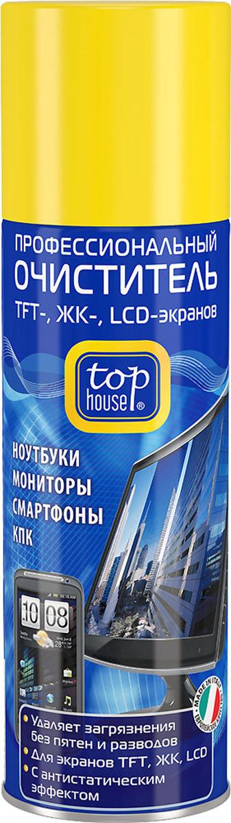 Очиститель TFT-, ЖК-, LCD-экранов Top House, 200 мл600059Профессиональный очиститель TFT-, ЖК-, LCD-экранов Top House (аэрозоль) специально разработан в Италии по современной технологии и с учетом рекомендаций крупнейших производителей компьютерной техники, аудио-видео техники и оргтехники. Предназначен для высококачественной очистки и повседневного ухода за экранами компьютеров, ноутбуков, КПК, планшетов, смартфонов, коммуникаторов, цифровых фоторамок и других цифровых устройств. - Быстро и эффективно удаляет загрязнения. - Не оставляет пятен и разводов. - Не повреждает защитное покрытие экранов. - Обладает длительным антистатическим эффектом. Состав: изопропиловый спирт 30%, вода - более 30%, неионные ПАВ - менее 5%, пропан, бутан, ароматизаторы. Товар сертифицирован.