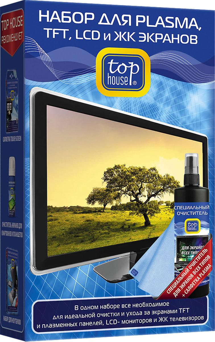 Набор для ухода за Plasma, TFT, LCD, ЖК экранами Top House, 2 предмета391510Набор Top House состоит из специального очистителя и салфетки. Набор предназначен для качественной очистки и повседневного ухода за экранами TFT и плазменных панелей, ЖК-телевизоров, LCD-мониторов, проекционных и ЭЛТ телевизоров, ноутбуков, КПК, смартфонов, коммуникаторов и цифровых фоторамок. Набор идеально удаляет любые загрязнения, не повреждает защитное покрытие экранов, обладает длительным антистатическим эффектом. Не оставляет ворсинок, царапин и разводов. Состав средства: менее 5% неионные ПАВ, растворитель (бутилгликоль), антистатик, ароматизаторы, обессоленная вода, консерванты (бензизотиазолинон, метилизотиазолинон). Материал салфетки: 100% полиэстер. Размер салфетки: 36 см х 38 см.