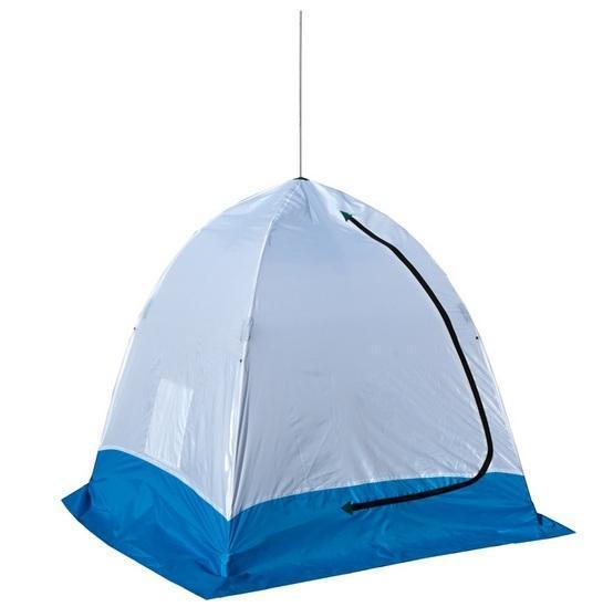 Палатка рыбака ELITE 1-м полуавтомат нетканная (Стэк), цвет: белый/голубой