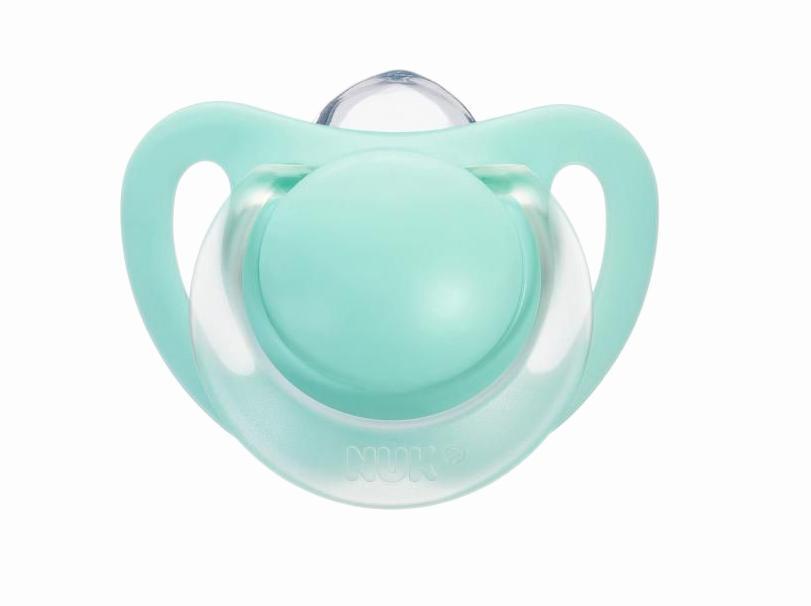 Пустышка силиконовая NUK Starlight, ортодонтическая, от 6 до 18 месяцев, 2 шт, в ассортименте
