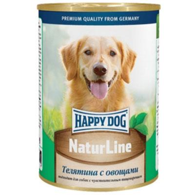 Консервы для собак Happy Dog Natur, с телятиной и овощами, 400 г. 1587315873Консервы для собак Happy Dog Natur с телятиной и овощами обладают исключительным вкусом, не менее привлекательным для животного, чем 100% мясной рацион. К тому же наличие в составе овощей положительно скажется на состоянии иммунной системы и работе желудочно-кишечного тракта, поэтому такие консервы являются максимально полезным влажным рационом, который можно давать животному каждый день. Консервы для собак Happy Dog Natur с телятиной и овощами полностью соответствуют естественным потребностям взрослых собак вне зависимости от их принадлежности к породе. Это максимально натуральные консервы, для приготовления которых не использовалась соя, искусственные красители и консерванты. В основе консервов находится отборная телятина. Питательная ценность и полезность телятины для организма обусловлена её богатым витаминно-минеральным составом и насыщенность качественным протеином. Телятина хорошо усваивается и, благодаря наличию в мясе теленка экстрактивных веществ,...