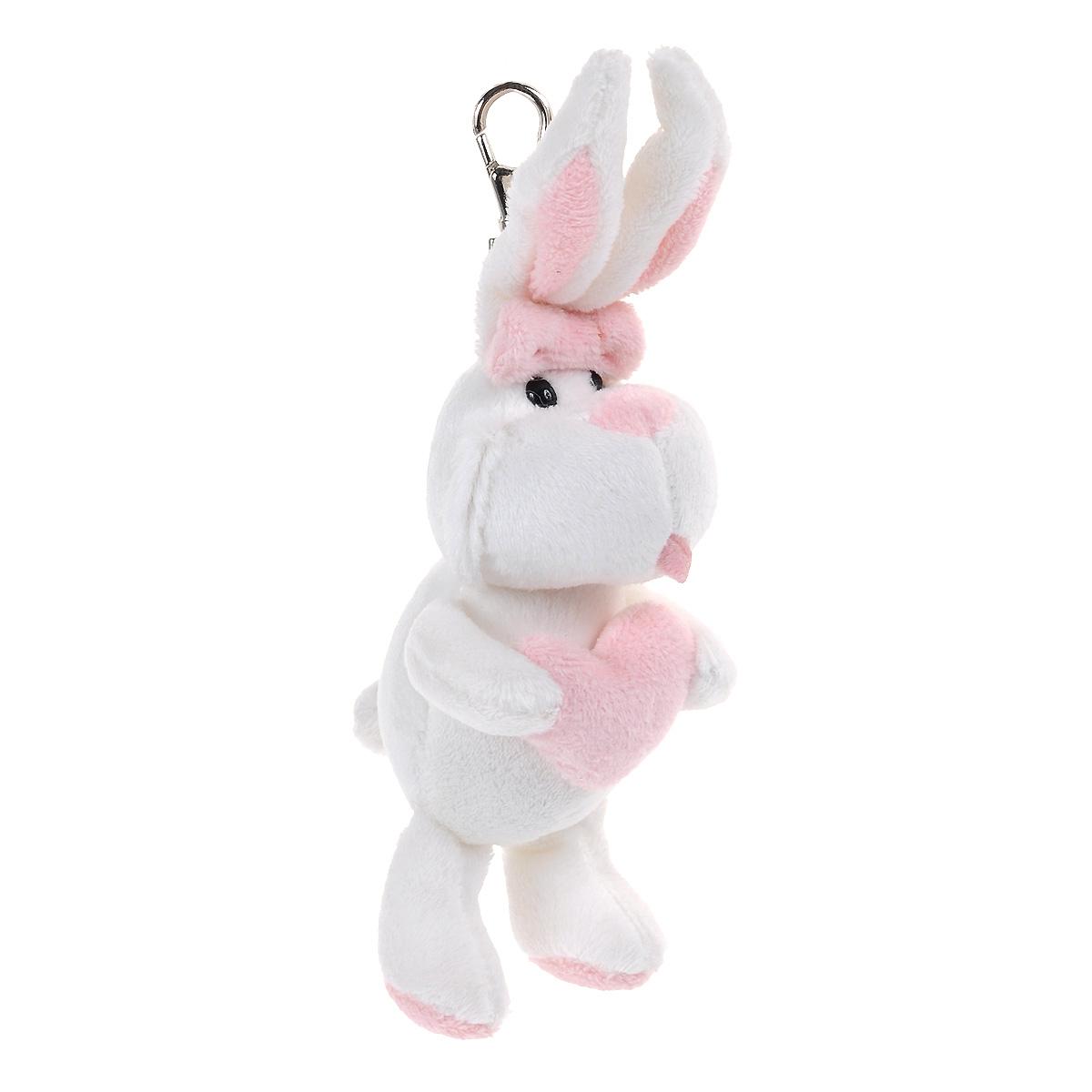 Брелок Gulliver Кролик с сердцем, цвет: белый, 19 см7-54710Очаровательный брелок Gulliver Кролик с сердцем вызовет улыбку как у взрослого, так и у ребенка. Он выполнен из полиакрила и модакрила с набивкой из синтепона в виде милого кролика. Глазки игрушки пластиковые; в лапках кролик держит сердечко. К игрушке крепится карабин, с помощью которого ее можно пристегнуть к сумке, рюкзачку или связке ключей. Оригинальный стиль и великолепное качество исполнения делают этот брелок чудесным подарком к любому празднику, а трогательный образ представит такой подарок в самом лучшем свете.