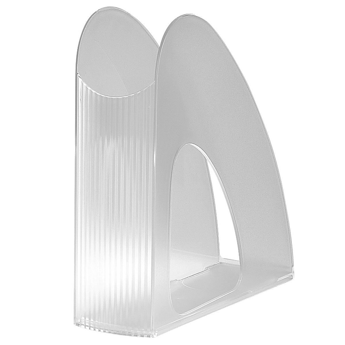 Лоток для бумаг вертикальный HAN Twin, прозрачный, цвет: белыйHA1611/23Вертикальный лоток для бумаг HAN Twin с оригинальным дизайном корпуса поможет вам навести порядок на столе и сэкономить пространство. Лоток изготовлен из высококачественного антистатического прозрачного пластика. Низкий передний порог облегчает изъятие документов из накопителя. Благодаря лотку для бумаг, важные бумаги и документы всегда будут под рукой.
