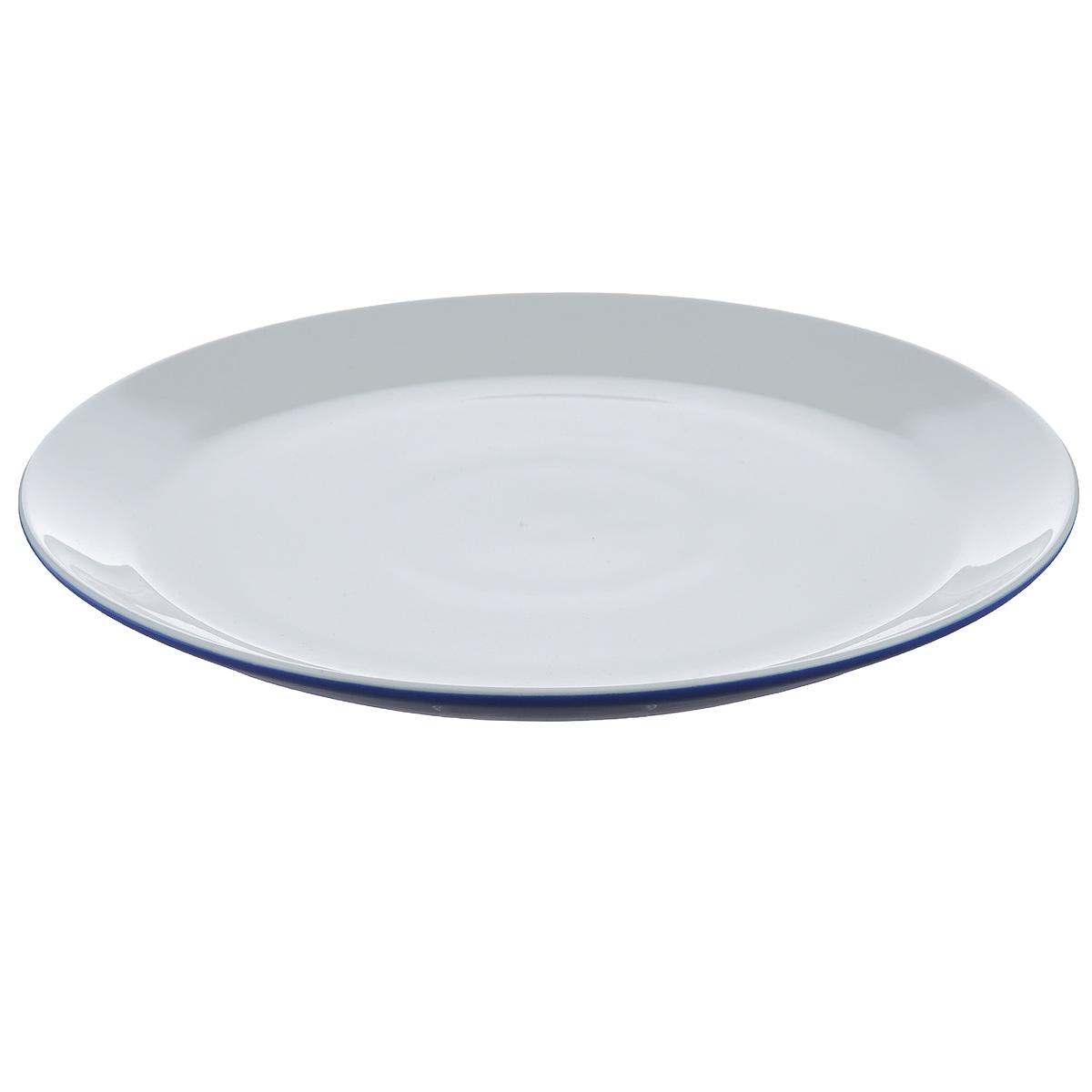 Тарелка обеденная Brabantia, цвет: фиолетовый, диаметр 27 см620744Тарелка обеденная Brabantia изготовлена из прочного высококачественного фарфора и подходит для повседневного использования. Большая тарелка предназначена для основного блюда. Всегда актуальный дизайн - подойдет для любого случая. Можно нагревать в микроволновой печи и мыть в посудомоечной машине.