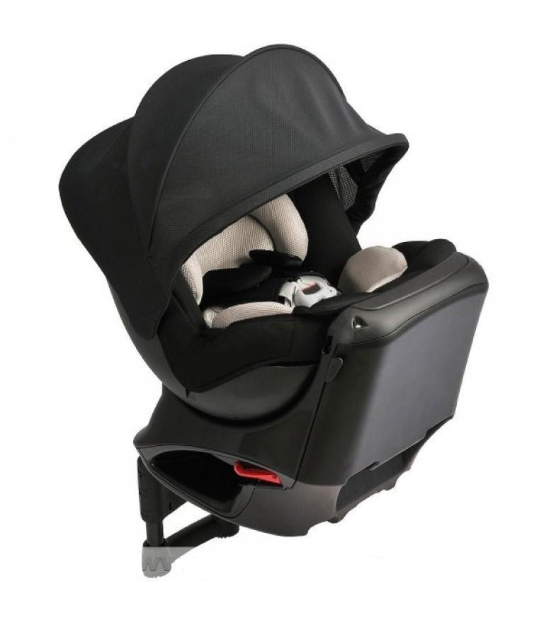 Кресло детское автомобильное Kurutto NT2 Proud, группа 0+/1, черное