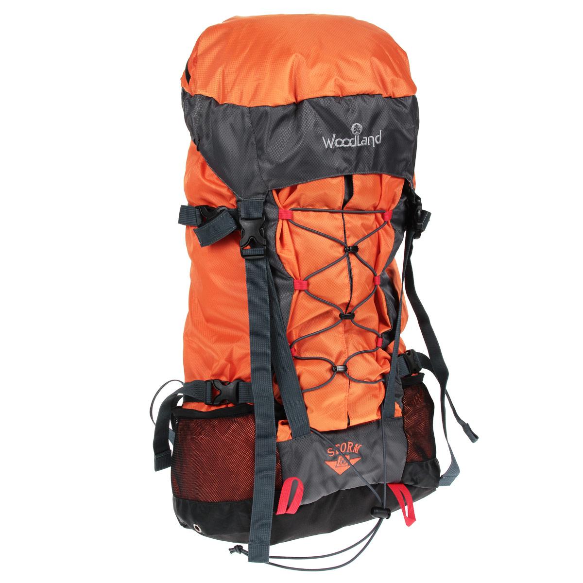 Рюкзак WoodLand Storm 50, цвет: оранжевый, темно-серый30782Рюкзак WoodLand Storm 50 - это комфорт и удобство для восхождения или прогулок. Малый вес и большой объем. Удобный внешний карман с легким доступом вмещает все необходимое оборудование. Особенности рюкзака: Клапан несъемный, с карманом на на влагозащищенной молнии. Один вход в основное отделение, верхний. Фронтальный вместительный карман с вертикальной загрузкой. Точки подвески питьевой системы на VELCRO (липучка). Широкие крылья поясного ремня. S-образные лямки. Грудная стяжка с резиновым компенсатором. Пластиковая фурнитура YKK.