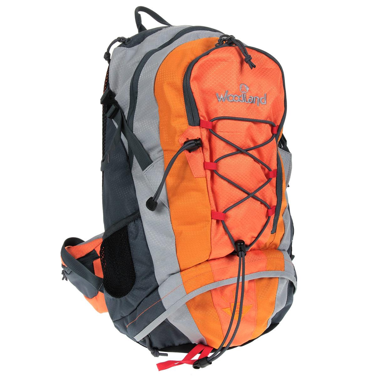 Рюкзак WoodLand UPS 25, цвет: оранжевый, желтый, темно-серый30776Рюкзак WoodLand UPS 25 разработан для приключений, будь то дикая природа или городские джунгли. Все узлы продуманы и универсальны - Вам не нужно будет задумываться над тем, что и куда положить. 25-литровый рюкзак WoodLand UPS 25 с вместительными карманами, нижним входом и классической системой вентиляции - оптимален для всех видов физической активности. Особенности рюкзака: Два входа в основное отделение. Удобный органайзер во внешнем кармане. Кармашки для мелочей в крыльях поясного ремня. Отдельный карман для плеера и других полезностей. Адаптирован для использования питьевой системы. Грудная стяжка с резиновым компенсатором. Пластиковая фурнитура YKK.