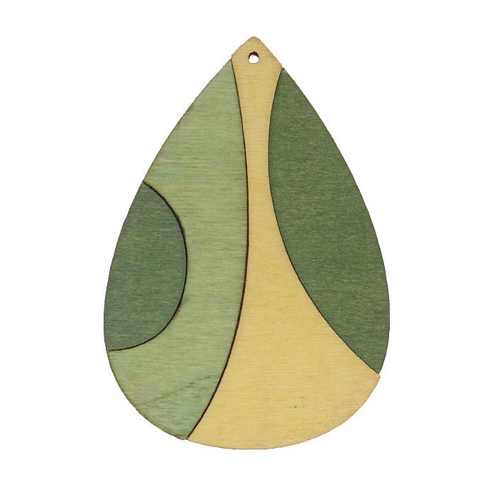 Подвеска деревянная Астра Капля, цвет: светло-зеленый, светло-желтый, зеленый, 68 мм х 47 мм7701017_2174-02Подвеска Астра Капля выполнена из дерева в форме капельки. С помощью этой подвески вы сможете украсить, альбом, одежду, бижутерию или другие предметы ручной работы. Подвеска Астра Капля имеет оригинальный и яркий дизайн.